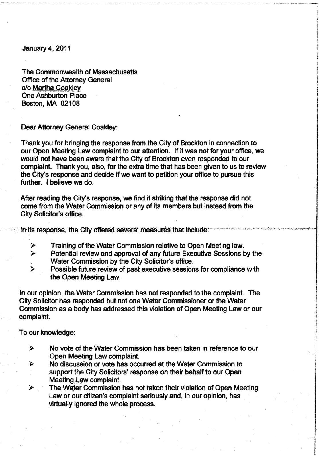 Sample Consumer Complaint Letter