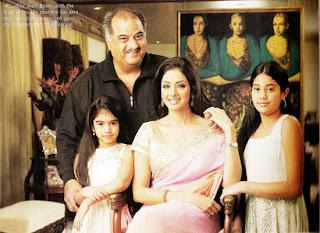 Bollywood Star Kids: Family Portrait - Sridevi and Boney