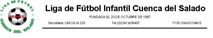 Liga Futbol Infantil Cuenca del Salado