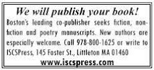 ISCS PRESS--WE WILL PUBLISH YOUR BOOK!