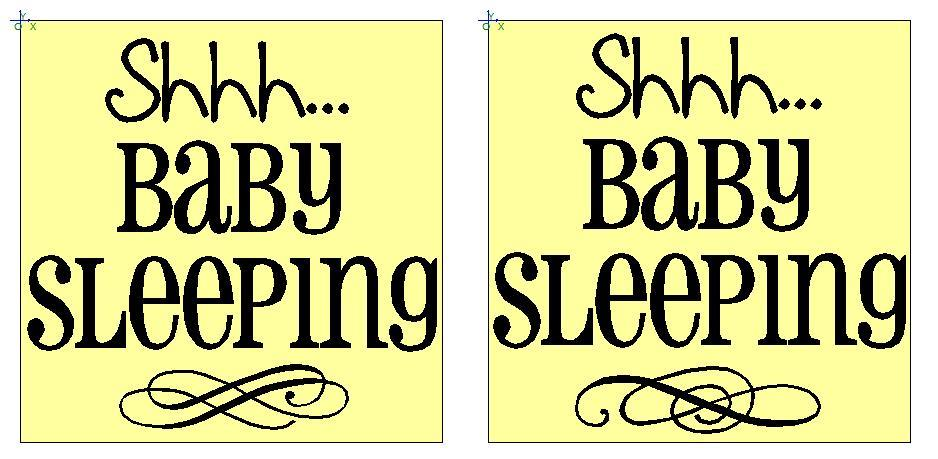 photograph regarding Baby Sleeping Sign Printable identified as Just about anything Vinyl: Shh Youngster SLEEPING Doorway Plaques