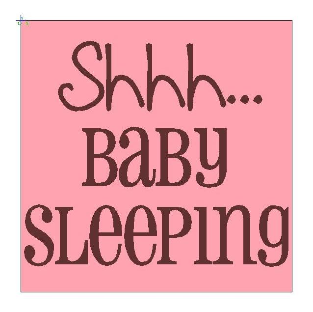 Influential image with regard to baby sleeping sign printable