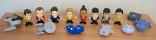 Burger King Star Trek Toys Promotion - 16 Toys in the Set.  Photo Credit: Trekmovie.com