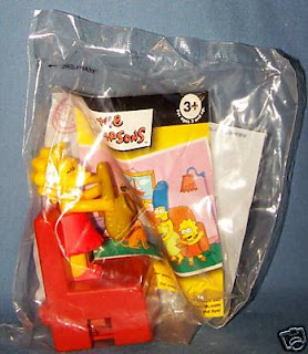 Burger King Simpsons Couch a Bunga 2008 kids meal toys - Lisa