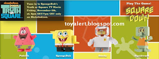 Burger King toys Spongebobs Truth or Square 2009 - Patrick, Spongebob, Sandy, Squidward
