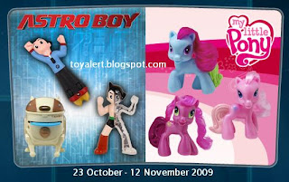 McDonalds USA Astro Boy and My Little Pony Toy Promotion 2009
