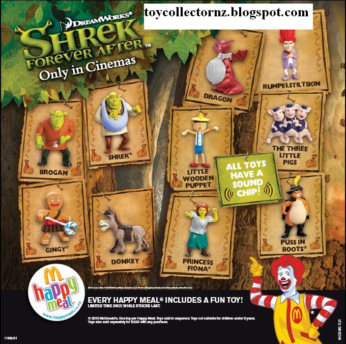 Toy Collector New Zealand Mcdonalds Shrek Forever After Toys 2010