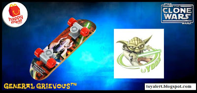 McDonalds Star Wars - The Clone Wars Happy Meal Toys 2010 - General Grievous Mini Skateboard or Fingerboard