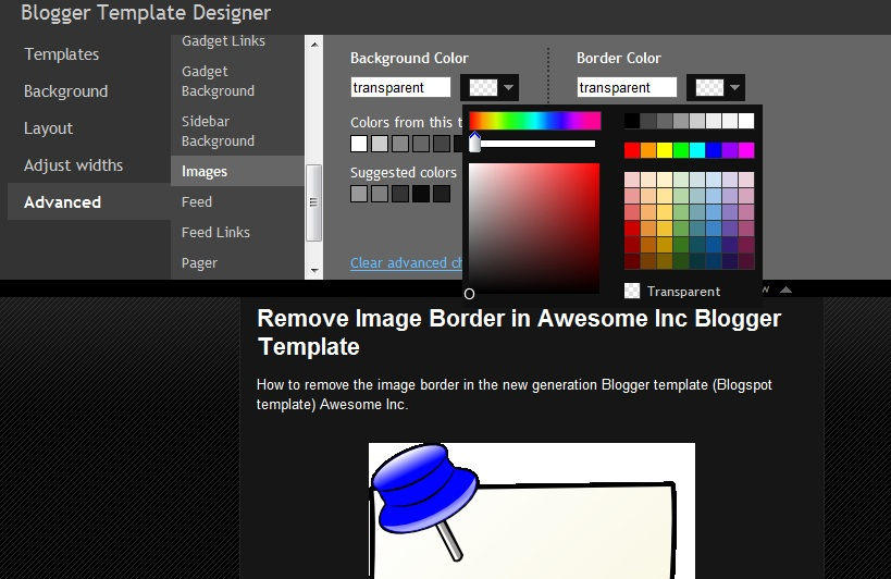 Remove image border in default blogger templates simple and remove border awesome inc blogger template pronofoot35fo Image collections