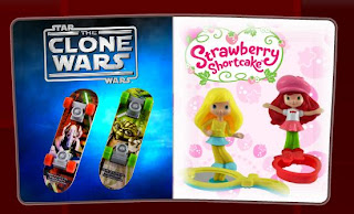 McDonalds Star Wars Clone Wars and Strawberry Shortcake Toys 2010
