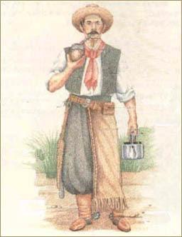 Resultado de imagen para gaucho con bombacha de campo en el siglo xviii
