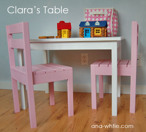 Creative Ideas For You Childs Table And Stackable Chair Plans