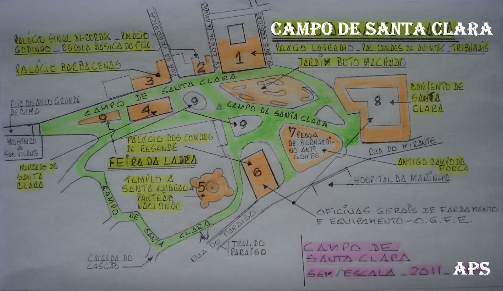 campo de santa clara lisboa mapa RUAS DE LISBOA ALGUMA HISTÓRIA: CAMPO DE SANTA CLARA [ I ] campo de santa clara lisboa mapa