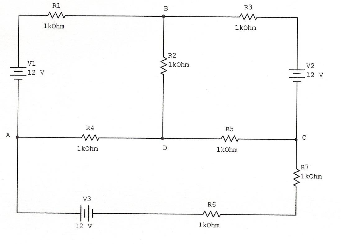Circuito Y : Electricidad electricitat resolución de circuitos por kirchhoff