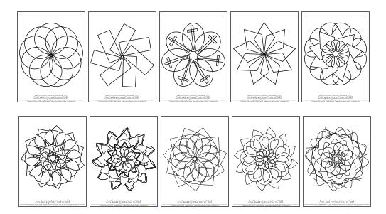 mandala designs printable
