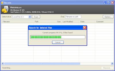 Met Recuva kun je verwijderde bestanden terughalen