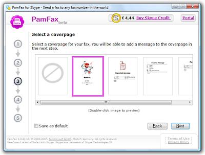 Skype fax met PamFax
