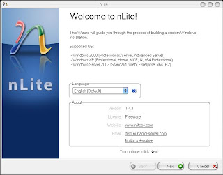 Masukkan Cd Instalasi Windows Xp  Jalankan Nlite