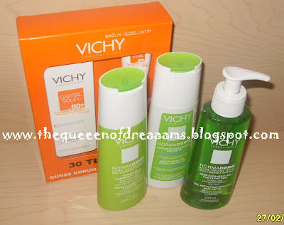 Kozmetik serisi Vichy Normaderm. yorumlar
