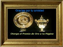 Premio Otorgado por  mi amiga Calida Sirena.