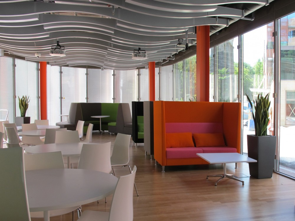 Skype office interior design Luxembourg City Most