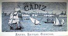 """Cabecera de la revista """"Cadiz"""", que editó Patrocinio"""