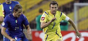 Футбол: Украина 1 - 2 Италия