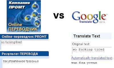 Переводчики ПРОМТ и Google
