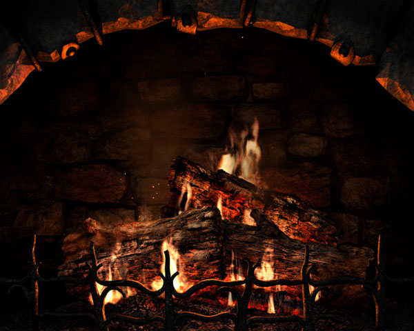 FirePlace 3D Screensaver