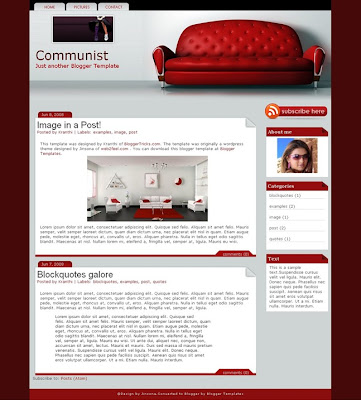 Communist Blogger Template Screenshot