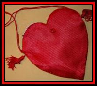 Heart-shaped disco bag
