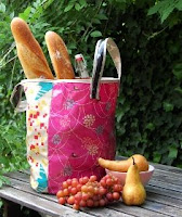 Echino Oilcloth Grocery Tote
