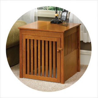 cool end table dog crate furniture | Animals That Give Pause: Dog Crate End Tables and Children ...