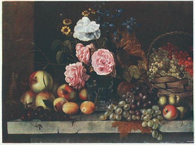 картина хруцкого цветы и плоды: