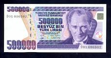"""500 BİN LİRA """" D 01 """" HARFİ"""