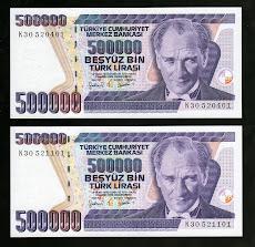 """7. EMİSYON 500 LİRA """" K 30 """" TAKIM"""