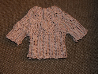 Knit Leaf Pattern Baby Sweater : theyarnwhisperer: leaf baby sweater