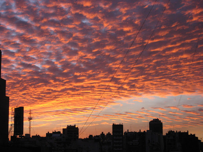 sunset in Buenos Aires