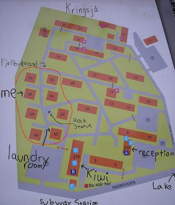 kringsjå studentby kart Ashley's Norwegian Adventure: Fjellbirkeland/Kringsjå Studentby  kringsjå studentby kart