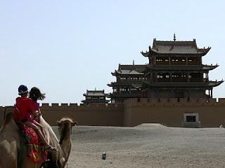 un chameau du desert en Chine