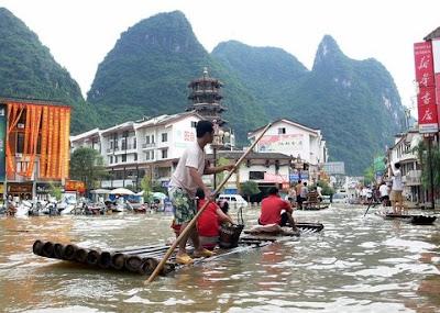 inondation sud chine yangshuo