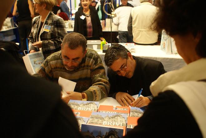 Jean-Michel Valade et Frédéric Le Hech à la Foire du Livre de Brive 2007.