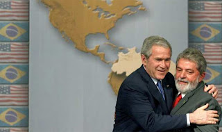 Our president embracing the Brazilian president