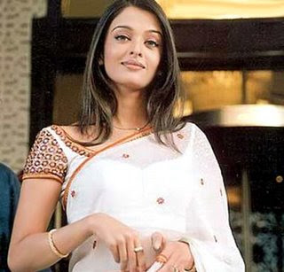 aishwarya rai saree in white saree1