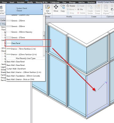 Revit curtain wall glass material for Curtain creator software