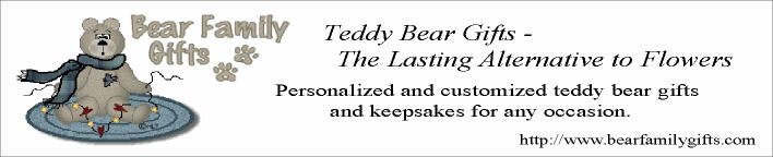 Personalized and customized teddy bear gifts and keepsakes for all occasions,Alternative to Flowers