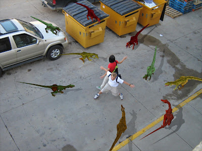 a full on raptor attack dinosaur home