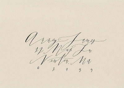 Betsy Dunlap Calligraphic Hand Lettering