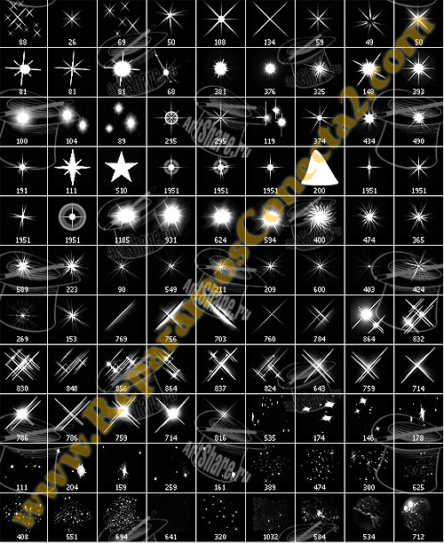 Pinceles de estrellas para Gimp - Kabytes