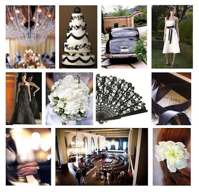 Black and Ivory Damask Wedding theme photo 1427054-2